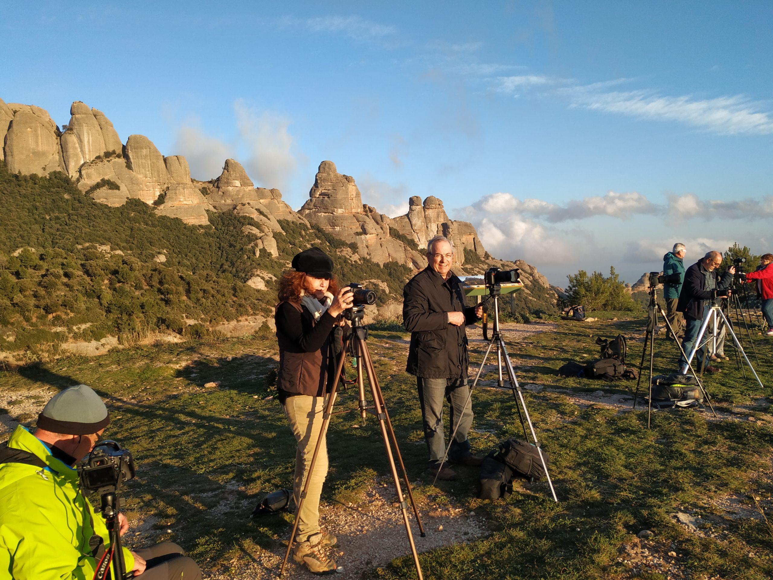 2020 Sortida Montserrat fotografiar la posta de Sol i sortida de la Lluna plena